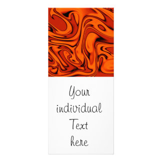fluid art 01 red rack card template