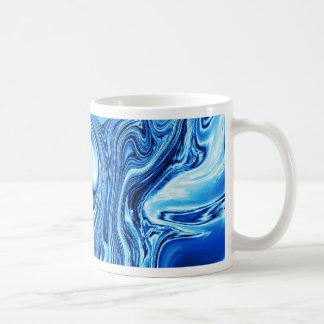 Fluid art 09,blue coffee mug