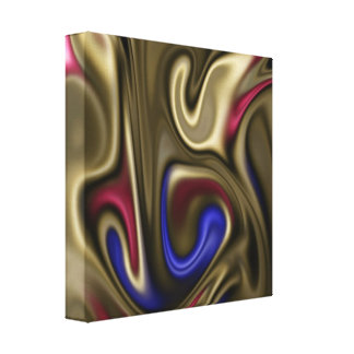 fluid art stretched canvas print