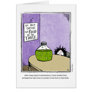 FLUID cartoon by Ellen Elliott Greeting Card