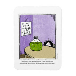 FLUID cartoon by Ellen Elliott Rectangular Photo Magnet