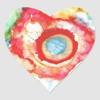 Fluid Colors Products Heart Sticker