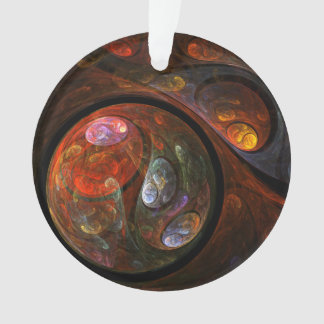 Fluid Connection Abstract Art Acrylic Circle Ornament