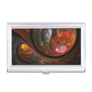 Fluid Connection Abstract Art Business Card Holder