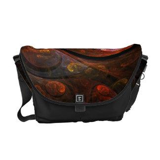 Fluid Connection Abstract Art Messenger Bag