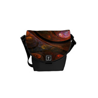 Fluid Connection Abstract Art Mini Bag Courier Bags