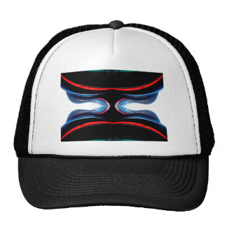 Fluid Harmonics Urban Futuristic Modern Art Mesh Hats