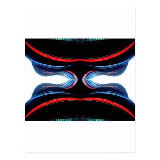 Fluid Harmonics Urban Futuristic Modern Art Post Cards