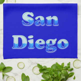 Fluid San Diego - On Blue Tea Towel
