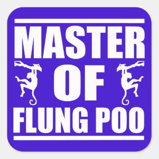 Flung Poo Master Square Sticker