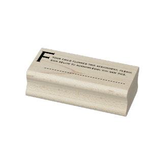 Flunked Comment Teachers Custom Rubber Stamp