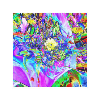 Fluorescent Blue, Lavender & Yellow Canvas Canvas Print