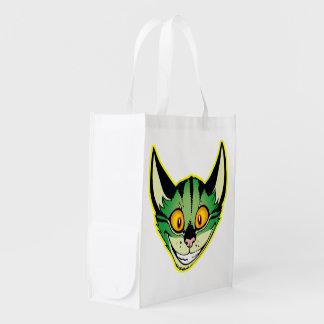 Fluorescent Cartoon Cat Reusable Bag