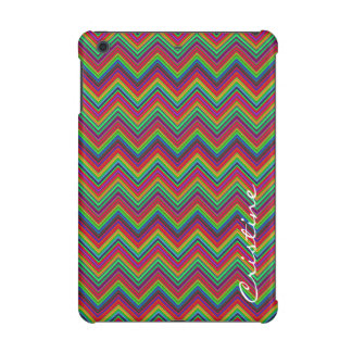 fluorescent colored zigzags personalized by name