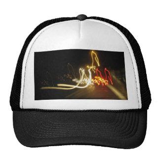 fluorescent figures trucker hats