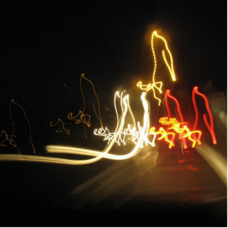 fluorescent figures standing photo sculpture