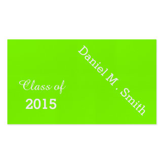 fluorescent green 2015 graduation name card pack of standard business cards