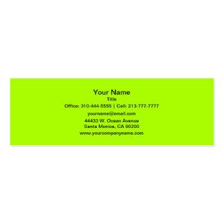 Fluorescent Green Business Cards