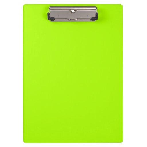 Fluorescent Green Clipboards