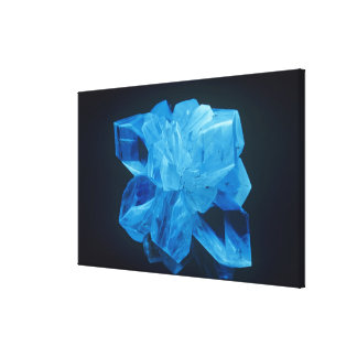 Fluorescent Gypsum or Selenite photographed under Canvas Print