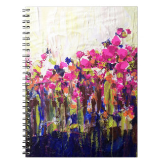 Fluorescent Haze Floral Notebook