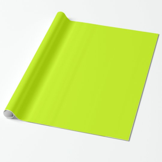 Fluorescent Lime Green Neon Yellow Personalised Wrapping Paper