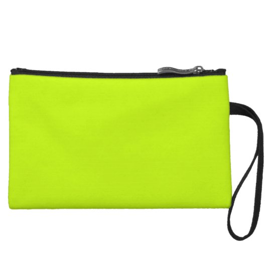 Fluorescent Lime Green Neon Yellow Personalised Wristlet