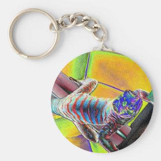 Fluorescent Lizard Keychains
