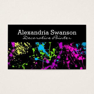 Fluorescent Neon Paint Splatter Artist Colorful