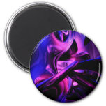 Fluorescent Passions Abstract Magnet