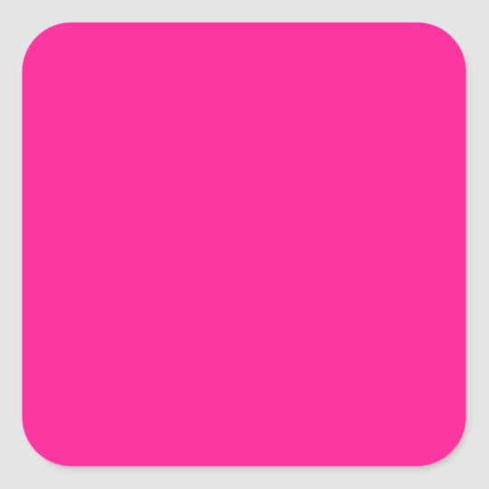Fluorescent Pink Square Sticker