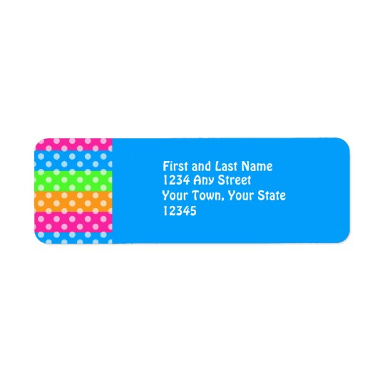 Fluorescent Rainbow with Polka Dots