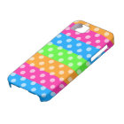 Fluorescent Rainbow with Polka Dots Barely There iPhone 5 Case