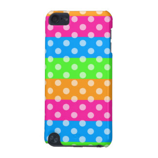 Fluorescent Rainbow with Polka Dots iPod Touch (5th Generation) Cases