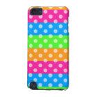 Fluorescent Rainbow with Polka Dots iPod Touch (5th Generation) Cover