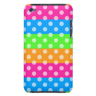 Fluorescent Rainbow with Polka Dots iPod Touch Covers