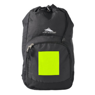 Fluorescent Yellow Backpack