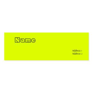 fluorescent yellow business card template