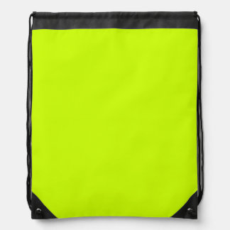 Fluorescent Yellow Drawstring Backpacks