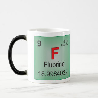 Fluorine Individual Element of the Periodic Table Magic Mug