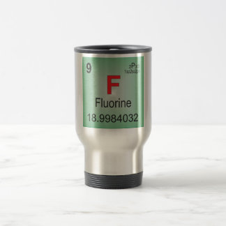 Fluorine Individual Element of the Periodic Table Travel Mug