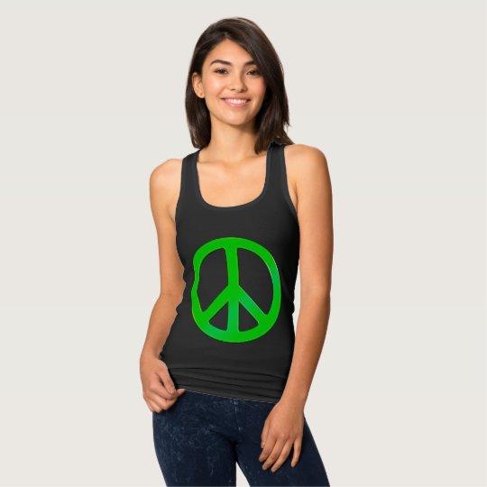 Fluoro Green Peace Symbol for World Peace Tank