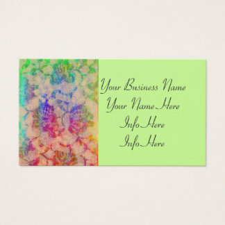 Fluoro Lace Roses Business Card