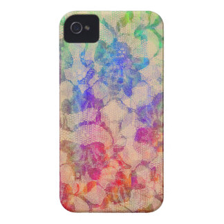 Fluoro Lace Roses iPhone 4 Case