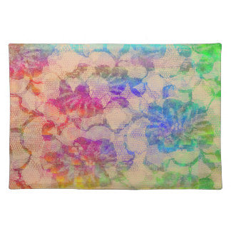 Fluoro Lace Roses Placemat