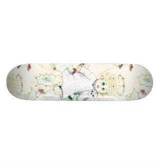 Flurry of Christmas Angels Skateboard