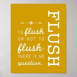 Flush | Bathroom Rules Poster Art Print 8x10
