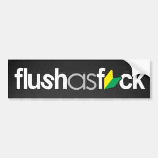 flushasfck (faux carbon fiber) bumper sticker