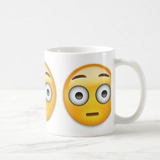 Flushed Face Emoji Coffee Mug