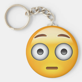 Flushed Face Emoji Key Ring